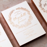 Whimsical Garland Invitation Design