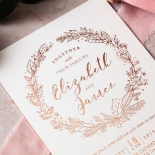 Whimsical Garland Wedding Card
