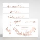 Whimsical Garland Wedding Invitation Card Design