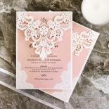 White Lace Drop Wedding Card Design