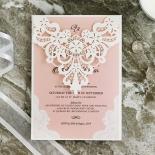 White Lace Drop Invitation Card