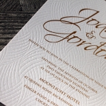 Woven Love Letterpress Invite Card