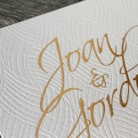 Woven Love Letterpress Wedding Card