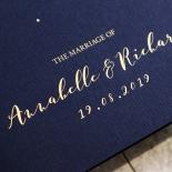 Written In The Stars - Navy Wedding Invitation Design