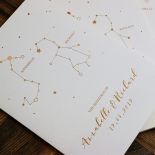 Written In The Stars Wedding Invitation Card Design