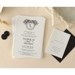 Ebony Foiled Wreath - Wedding Invitations - WP-CU550-B-01 - 184325