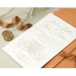 Bellissima Letterpressed Castle - Wedding Invitations - WP-IC55-LP-02 - 184213