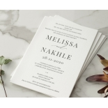 Bold Ebony Letterpress - Wedding Invitations - WP-IC55-LP-04 - 184446