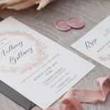 Pre Foiled Ivory Floral Wreath - Wedding Invitations - PM-KI300-PFL-B-02 - 184724