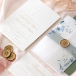 Embossed Ivory Garden Romance with Foil - Wedding Invitations - WP-IC30-BLBF - 184990