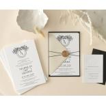 Ebony Foiled Wreath - Wedding Invitations - WP-CU550-B-01 - 184328
