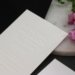 White on White Blind Letterpress - Wedding Invitations - WPBD-01 - 183926