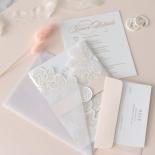 Foil Stamped Floral Laser Cut Elegance - Wedding Invitations - BH1680-F - 184169