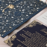 Navy Imperial Glamour - Wedding Invitations - PWI116022-NV-WH - 185217