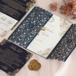 Navy Imperial Glamour - Wedding Invitations - PWI116022-NV-WH - 185218