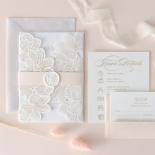Foil Stamped Floral Laser Cut Elegance - Wedding Invitations - BH1680-F - 184166