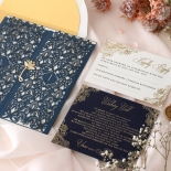Navy Imperial Glamour - Wedding Invitations - PWI116022-NV-WH - 185219