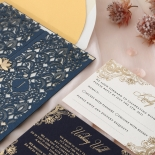 Navy Imperial Glamour - Wedding Invitations - PWI116022-NV-WH - 185220