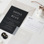 Sophisticated Monochrome - Wedding Invitations - GI-MB300-WH-02 - 184136