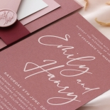 Wild Plum - Wedding Invitations - GI-CP350-WH-17 - 185370