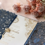 Navy Imperial Glamour - Wedding Invitations - PWI116022-NV-WH - 185221