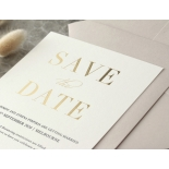 Foil Stamped Save the Date on Blush and White - Wedding Invitations - WP-CR14-SD-GG - 184225