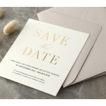 Foil Stamped Save the Date on Blush and White - Wedding Invitations - WP-CR14-SD-GG - 184226