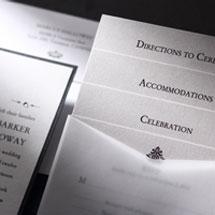 Matching white wedding stationery cards