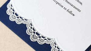 Wedding invitations with free backing layer card