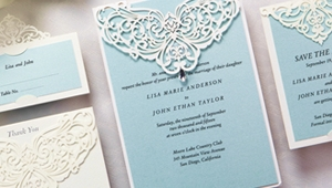 Quality metallic gold paper for wedding stationery
