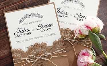 Wedding invitations in melbourne stationery wedding cards online country lace pocket stopboris Choice Image