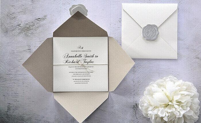 Personalised invitations laser cut foiled letterpress pocket fold affordable wedding invitations filmwisefo Choice Image